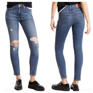 721 High Rise Skinny Medium Wash Stretch Jeans